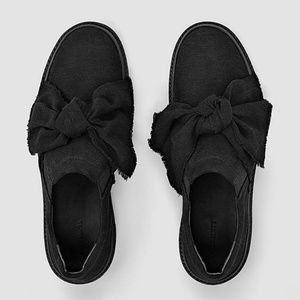 All Saints Zale Lowtops Bow Sneakers